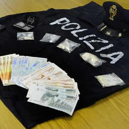 Eroina e cocaina nascoste in garage