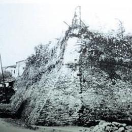 Queste le mura che furono abbattute presso l'ospedale