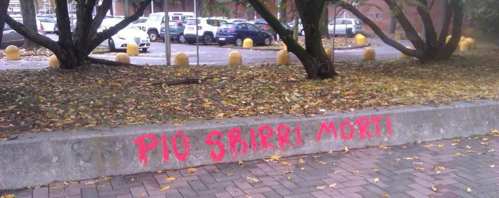 Scritte anti-polizia in tutta San Donato