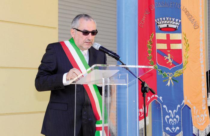 Il sindaco di Casaletto Lodigiano Giorgio Marazzina