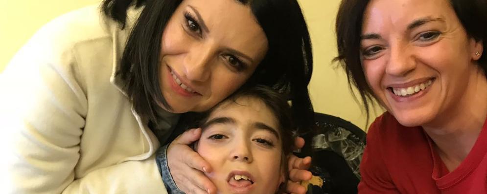 Laura Pausini a Lodi per incontrare Fabio Muroni