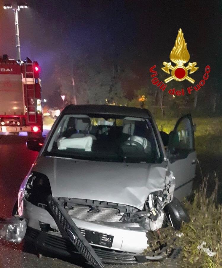 L'altro veicolo coinvolto nell'incidente alla Faustina