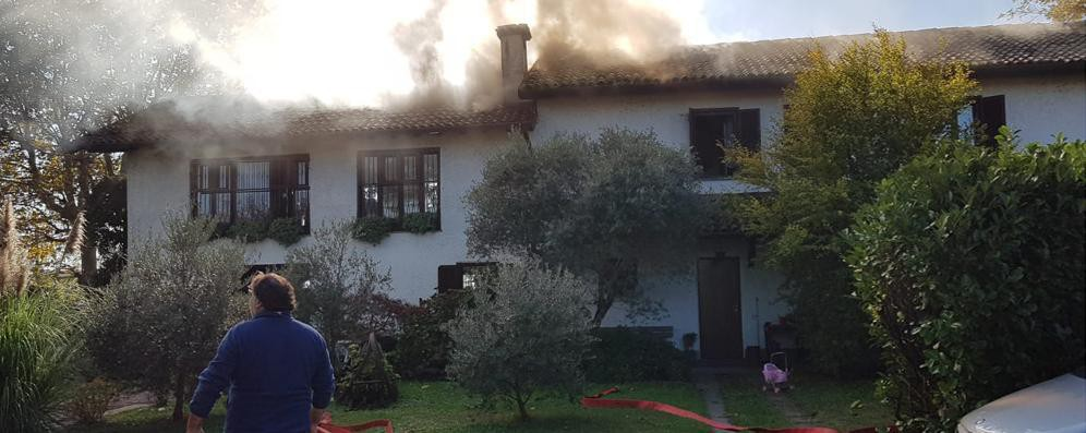 Rogo in cascina a San Zenone: anziana intossicata e casa inagibile