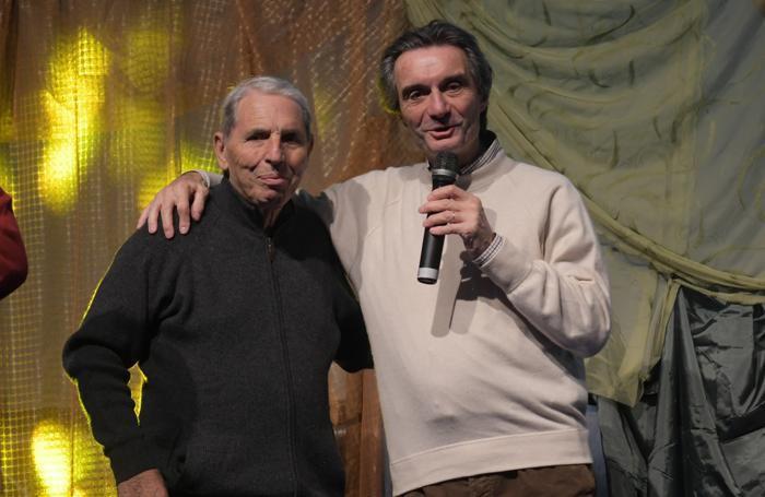 Don Chino e il presidente della regione Lombardia Fontana