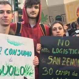 San Zenone, i giovani contro la logistica