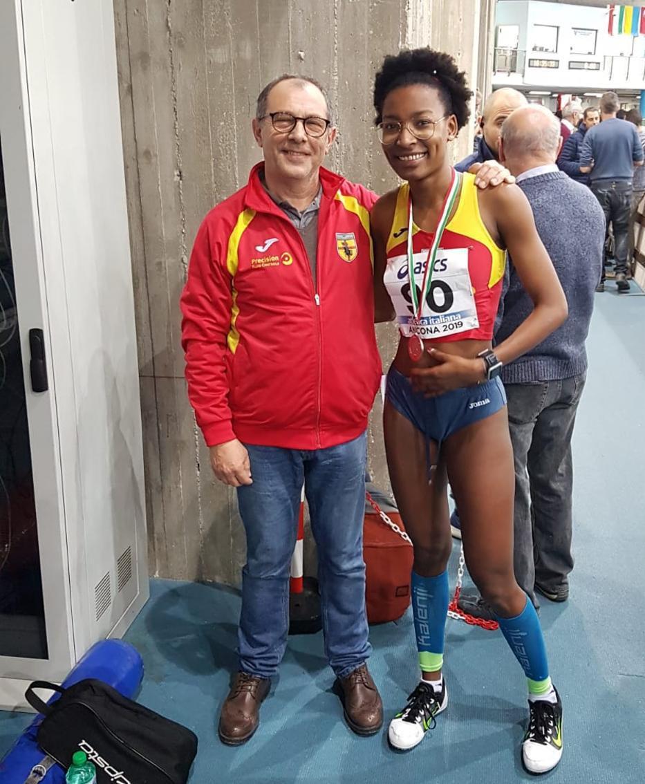 Faith Gambo con il coach Bassanini
