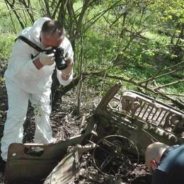 Spunta una jeep sulla riva dell'Adda, era dei soldati americani in guerra