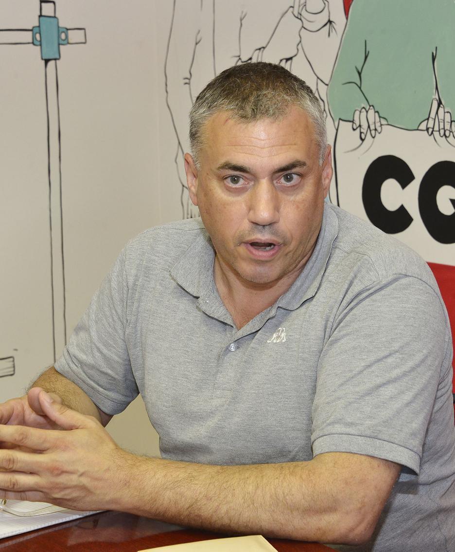 Guido Scarpino (Cgil) in una foto d'archivio