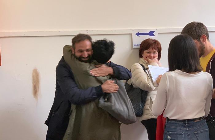 Abbracci di gioia a Brembio