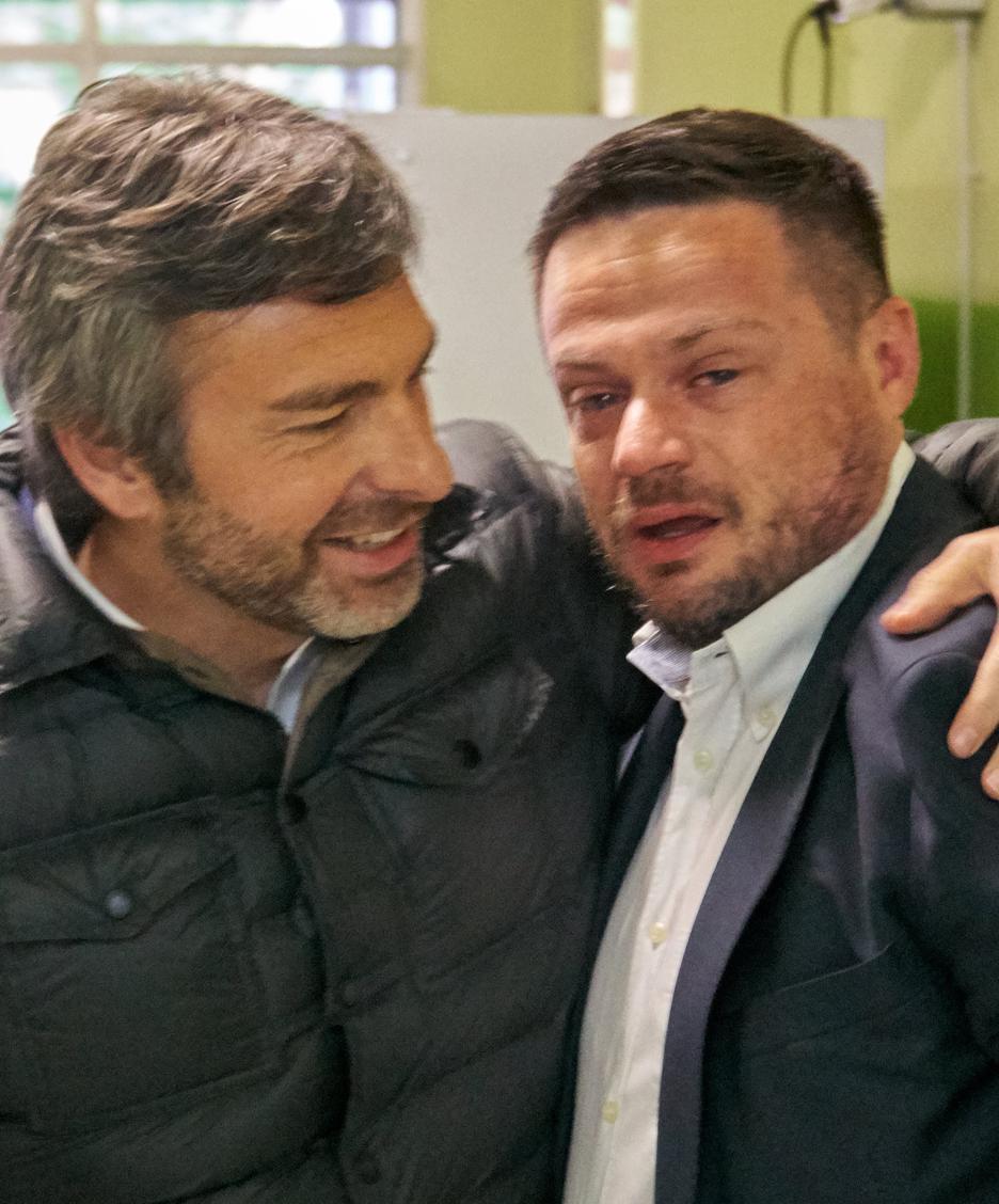 Il nuovo sindaco di Tavazzano in lacrime