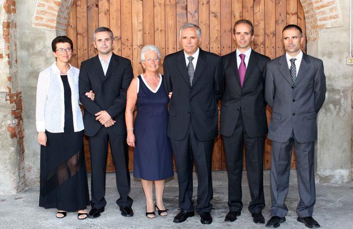 Una foto della famiglia Cambielli di quela che anno fa