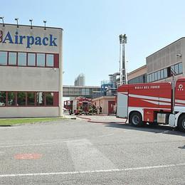 Incendio alla Airpack, nessun danno alla struttura