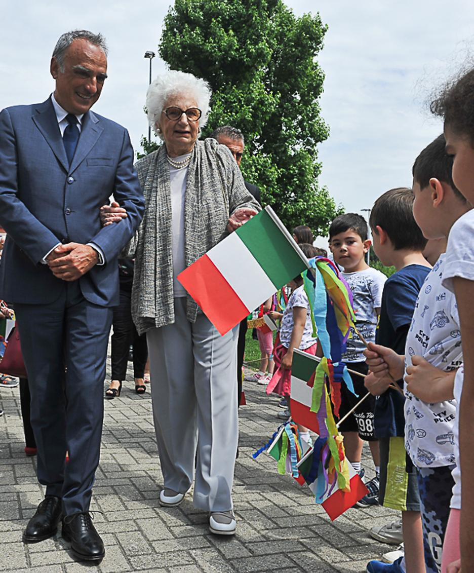 Liliana Segre con prefetto Marcello Cardona