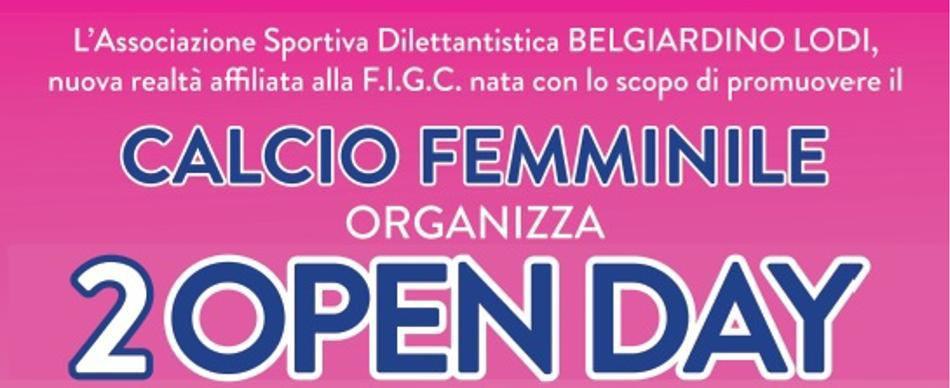 Calcio Femminile: 2 Open Day a Lodi