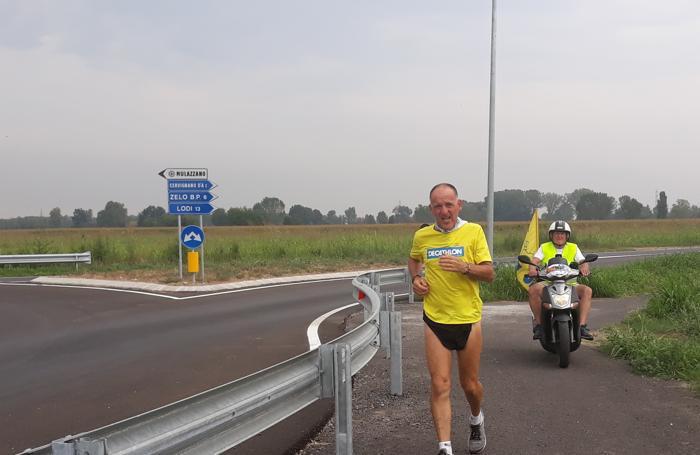 Fabrizio Amicabile al suo arrivo a Mulazzano