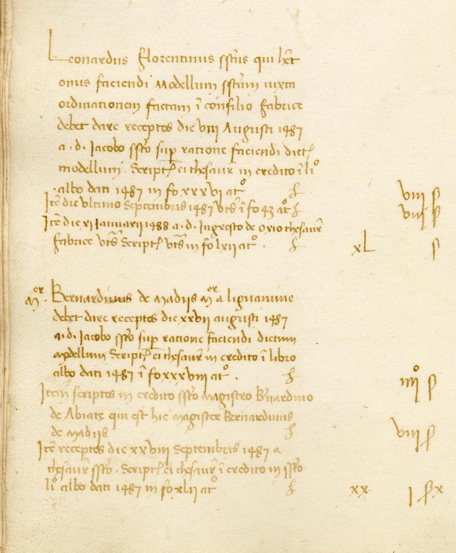 Uno dei documenti in mostra
