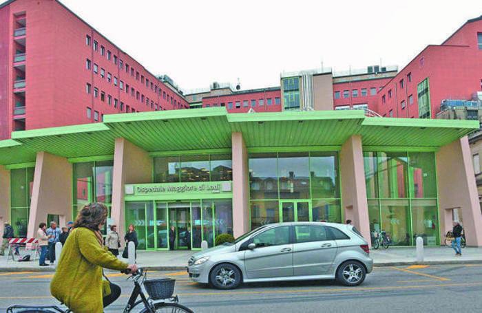 L'ingresso dell'ospedale Maggiore di Lodi