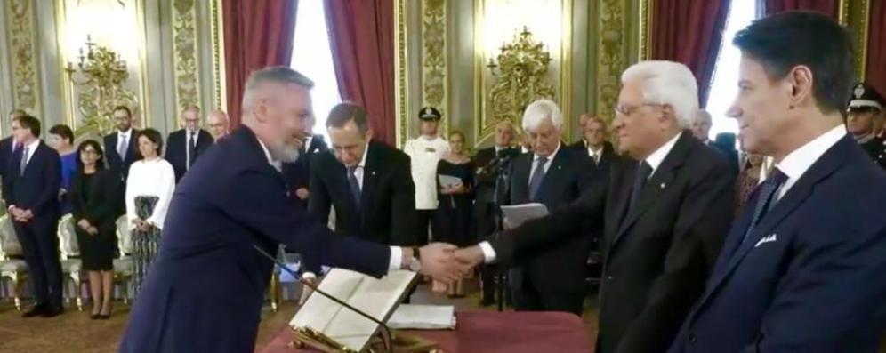 """Conte """"bis"""", il neo ministro Guerini ha giurato davanti a Mattarella"""