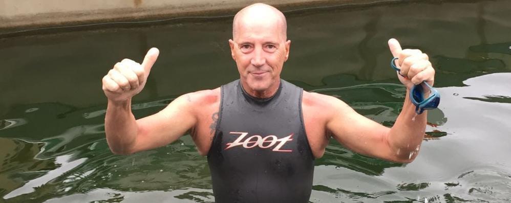 """Il """"delfino"""" D'Angelo sfiderà il Po: «Servono coraggio e incoscienza»"""