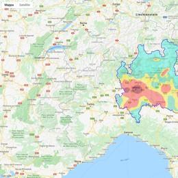 Una macchia rossa nel Lodigiano: così il Pm10 sporca la nostra aria