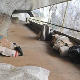 Lodi, i senzatetto sono tornati sotto il ponte della tangenziale
