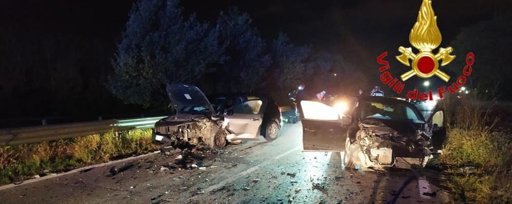 Cinque feriti in un violento frontale sulla Lodi-Boffalora VIDEO E FOTO