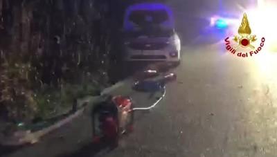 Frontale a Lodi, cinque feriti