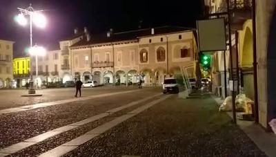 Piazza Vittoria ai tempi del lockdown