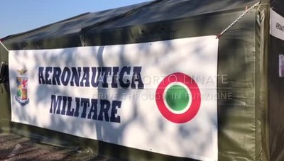 Linate - partito il drive through dell'Aeronautica