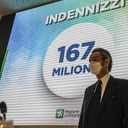 Fontana: «Indennizzi per 167 milioni, non lasciamo nessuno indietro» VIDEO