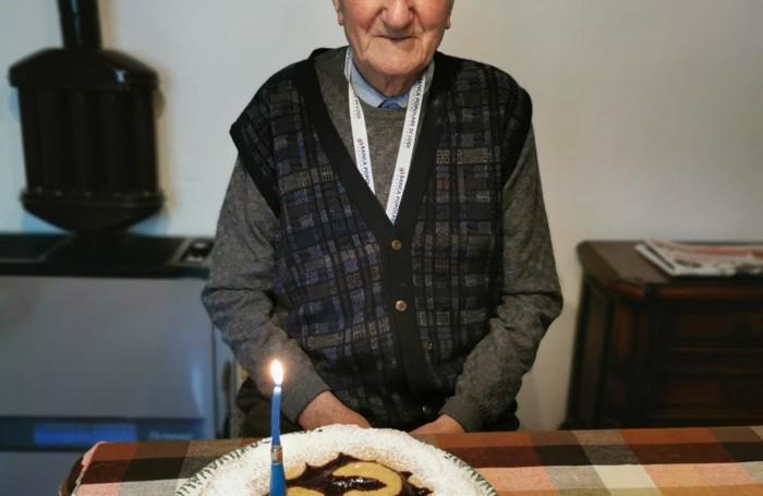 Fontanella in occasione del compleanno per i 97 anni