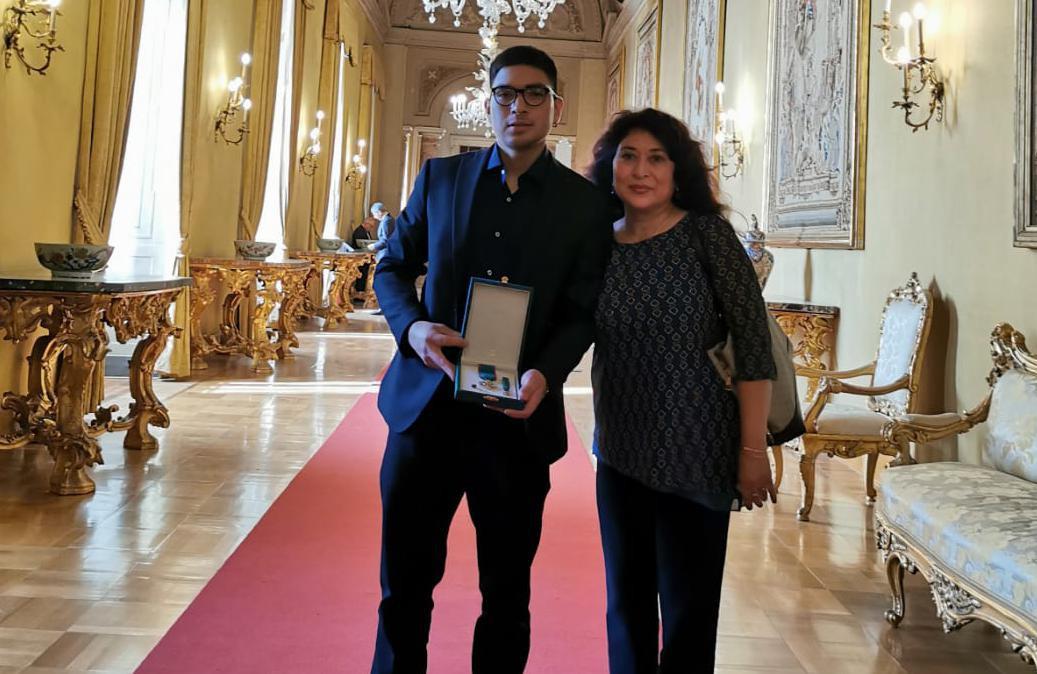 Angel Vargas e sua madre Sofia