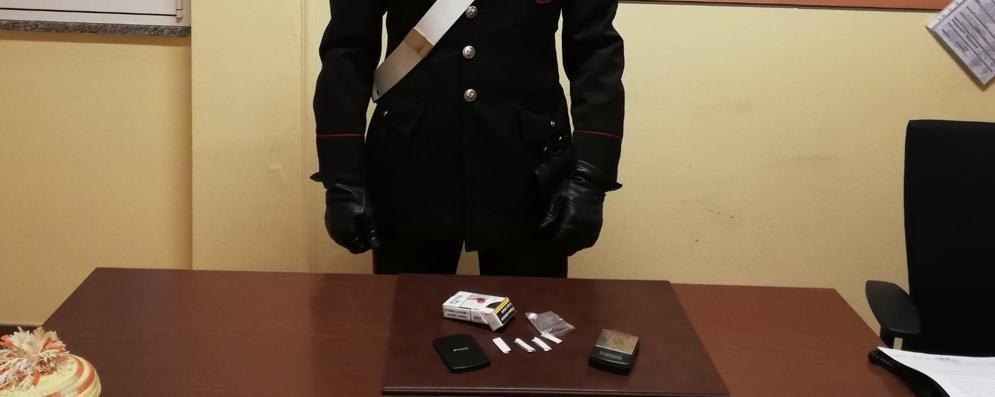 Al santuario con la cocaina in tasca, 19enne denunciato dai carabinieri