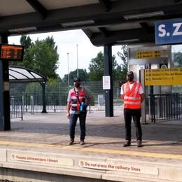 I carabinieri in congedo sentinelle alla stazione di San Zenone