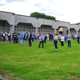 A Melegnano l'omaggio alle 45 vittime del Covid