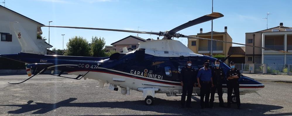 Sant'Angelo, controlli dal cielo dei carabinieri