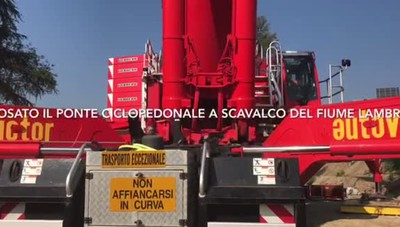 San Donato, posato il ponte ciclopedonale