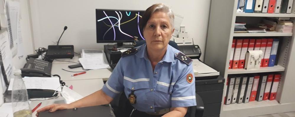 Se ne va in pensione la prima donna vigile di Melegnano