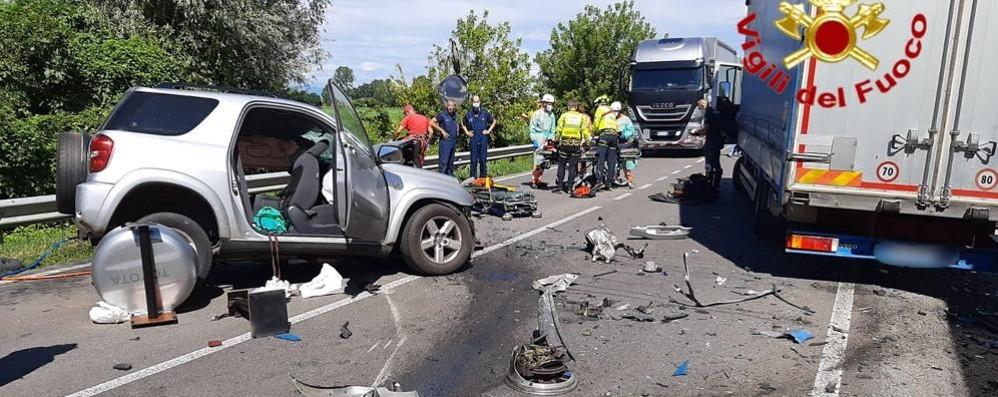 Spaventoso incidente mortale alla curva del Tormo, chiusa la Lodi - Crema