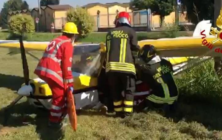 Incidente aereo alle porte di Lodi