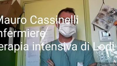 Mauro Cassinelli, infermiere della terapia intensiva