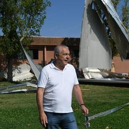Tromba d'aria, a un anno esatto a Carpiano i lavori sul tetto della palestra