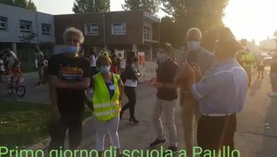 L'apertura delle scuole a Paullo