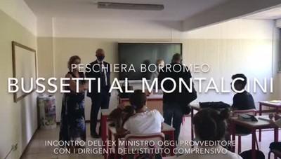 Peschiera, il provveditore Bussetti al Montalcini