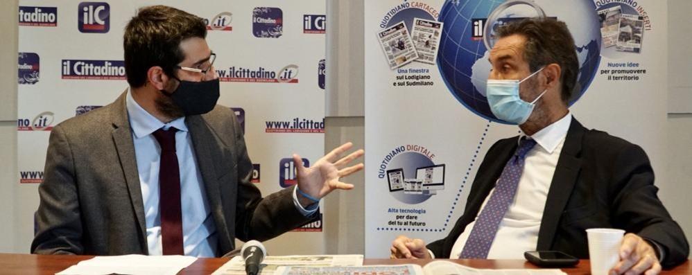 Lodi, Fontana in redazione al «Cittadino». In diretta video il colloquio con il nostro direttore