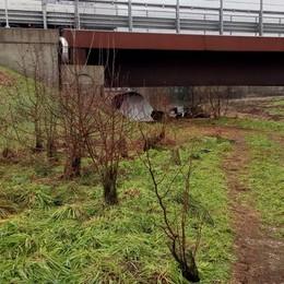 Bivacchi sotto il viadotto della bretella