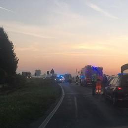 MULAZZANO Tre auto distrutte e cinque feriti nello schianto all'alba sulla Pandina