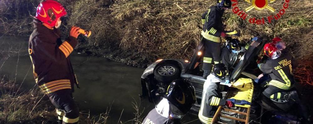 """MARUDO Auto nel fosso, """"salvato"""" un 62enne"""