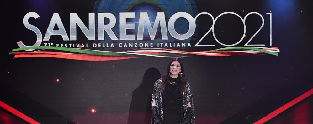 A Sanremo l'emozione di Laura Pausini
