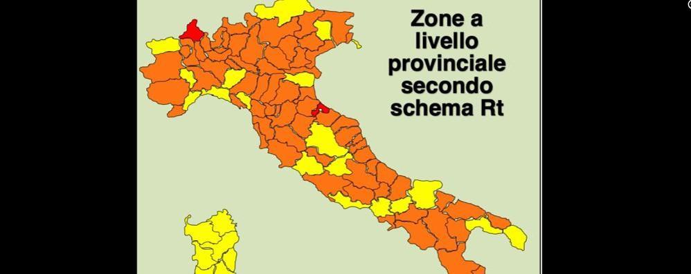 Covid, indici Rt: Lodi è la migliore nella Lombardia, che però è la peggiore d'Italia